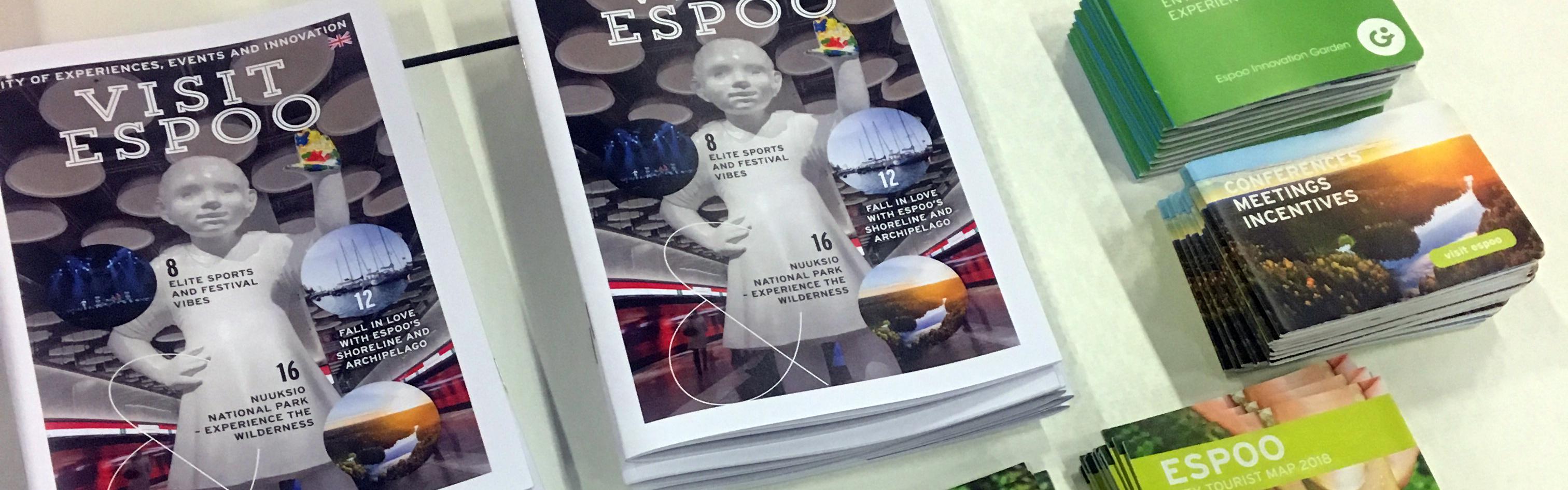 Esitteet ja kartat, Visit Espoo 2019
